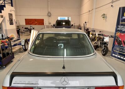 Mercedes 500 SL C – Restauración de carrocería con varilla